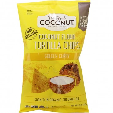 The Real Coconut Tortilla Chips Golden Curry 155g