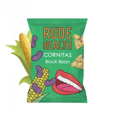 Rude Health Black Bean Cornitas 90g