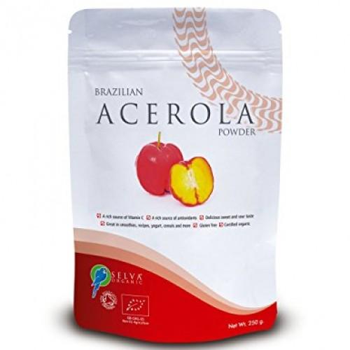Organic Acerola Powder 250g on organic cocoa, organic kiwi, organic honey, organic pineapple, organic watermelon, organic catnip, organic lavender, organic rosemary,