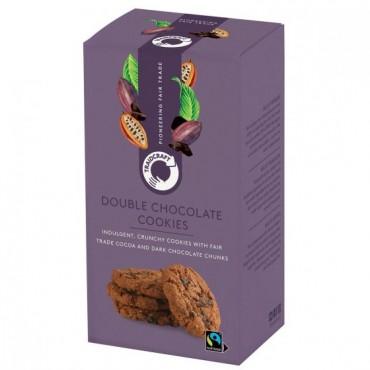 Traidcraft Double Chocolate Chunk Cookies 8 x 180g