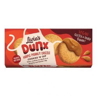 Livia's Dunx Maple Peanut Drizzle 12 x 48g