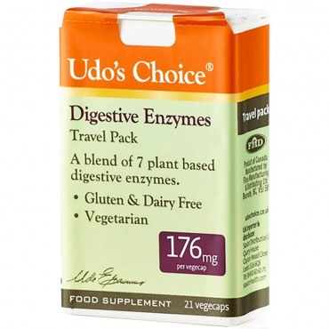 Udo's Enzyme 176mg Travel Pack 21