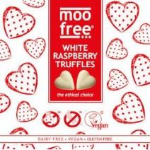 Moo Free White Raspberry Truffles 6 x 180g