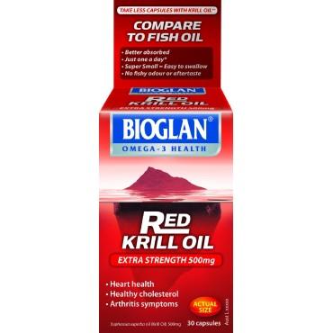 Bioglan red krill oil 500mg 30 capsules for Is krill oil better than fish oil