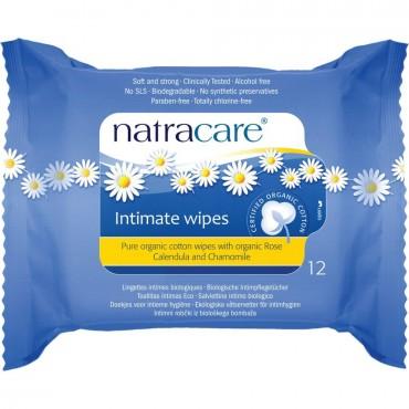 Natracare Organic Cotton Intimate Wipes x 12