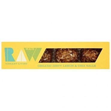 Raw Health Organic Raw Lemon & Chia Seed Balls 3 Pack 60g